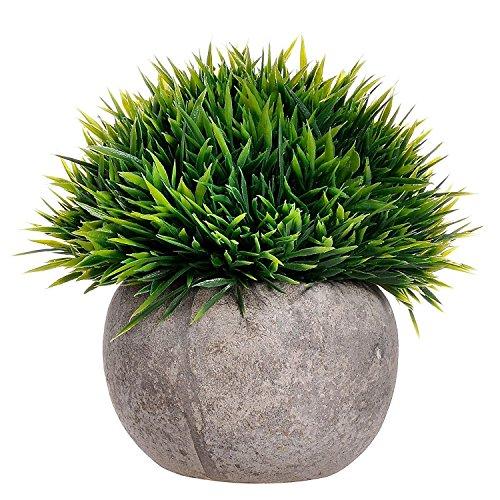 Gras, Pflanzen (Binen Künstliche Faux Töpfe Pflanzen Mini Kunststoff Fälschung Grünes Gras für Home Decor Office)