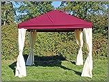 Pavillon 3x3m Sahara Bordeaux Partyzelt 3x3 Verkaufszelt wasserdicht