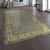 Paco Home Orientteppich Traditionell Klassische Optik Persisch Floral Grau Blau Creme, Grösse:160x230 cm