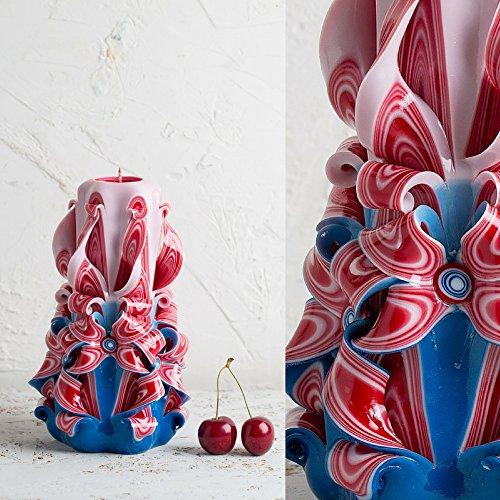 Geschnitzte Kerzen, handgeschnitzte Kerze, Regenbogen-Kerze, Valentinstaggeschenke - handgemachte (Kerl Niedlichen Outfits)