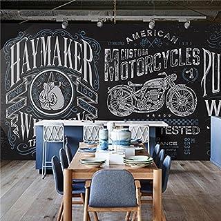 Large 3D wall murals black background alphabet motorcycle background bedroom TV background wall