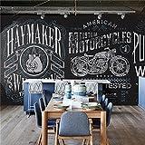 Große 3D 165,3schwarz Hintergrund Alphabet Motorrad Hintergrund Schlafzimmer TV Hintergrund Wand, schwarz, XXL(13'6
