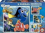 Puzzles Educa - Rompecabezas progresivos, 12-16-20-25 piezas, diseño Buscando a Nemo (15602)