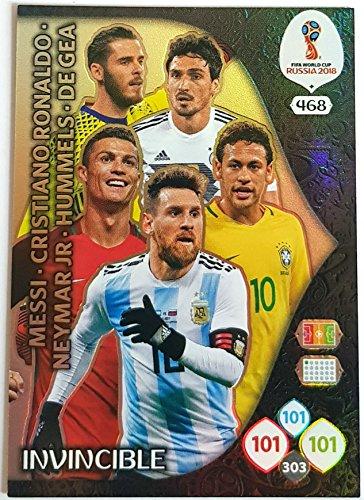 Adrenalyn XL FIFA-Weltmeisterschaft, 2018Karte Invincible, mitRonaldo, Messi, Neymar etc. (Sport-card Sammlerstücke)