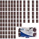 SPTA Lot de 92 manchons abrasifs de 6,35mm Grain de 60/120/240/320 5mandrins pour outils rotatifs Proxxon/Dremel