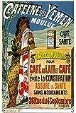 Affiche publicitaire Vintage - Caféine du Yemen (Évite la Constipation) - Format 40 x 60 cm