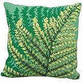 """40 x 40 cm Collection d'Art """"verde Fernes"""" Kit para coser cojín de punto de cruz"""