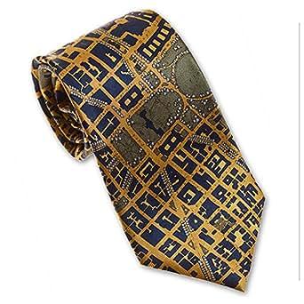 Josh Bach Mens CIVITAS Map of Washington DC Silk Necktie in ...