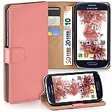 moex Samsung Galaxy S3 Mini | Hülle Korall mit Karten-Fach 360° Book Klapp-Hülle Handytasche Kunst-Leder Handyhülle für Samsung Galaxy S3 Mini S III Case Flip Cover Schutzhülle Tasche