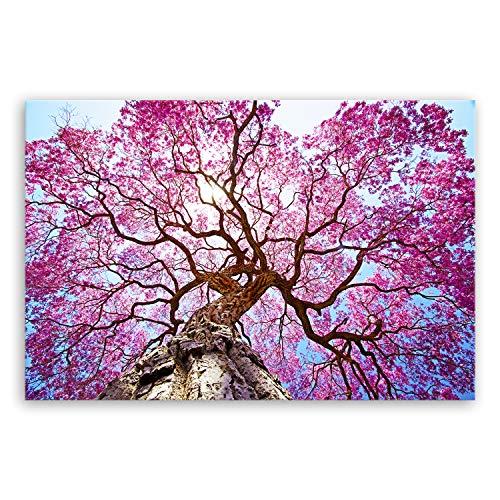 !!! SENSATIONSPREIS !!! hochwertiges Leinwandbild Naturbilder Landschaftsbilder - Rosa Lapacho Baum in Pocone - Brasilien - Natur Baum Pink Lila - 30 x 20 cm einteilig 2212 B