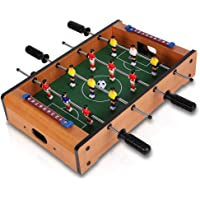 IRIS Foosball Table- Portable Mini Table Football / Soccer Game Set with Two Balls and Score Keeper for Adults and Kids