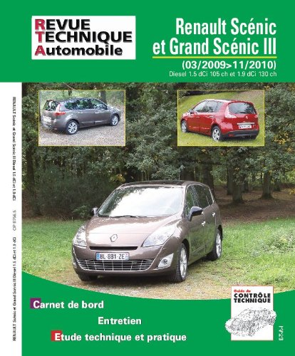 revue technique B756 Scenic III : 1.5dci 105ch, 1.9dci  130 ch