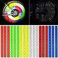 Netspower Reflektoren Speichenreflektoren Reflektor Clips, 3M Sichtbarkeit Reflective Material Speichensticks Speichenstrahler für das Fahrrad Fahren Fahrradzubehör