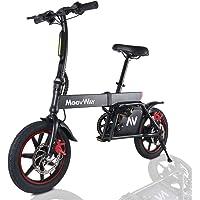 """Windgoo Vélo Électrique Pliant, 14"""" Vélo Adulte Pliant Moteur 350W, Vitesse jusqu'à 25 km/h, 25km la Longue Portée, 36V 6.0Ah Batterie, City E-Bike avec Pédale et Chaîne"""