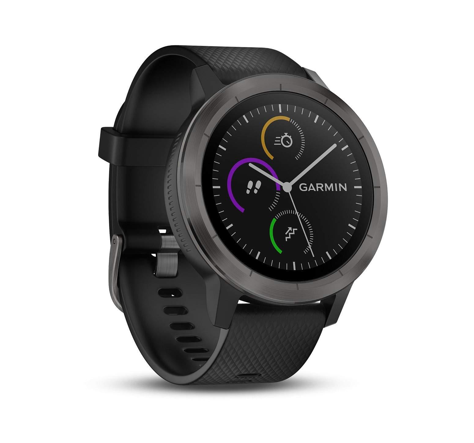Garmin Vivoactive 3 Smartwatch con GPS y Pulso en la muñeca, Unisex Adulto,