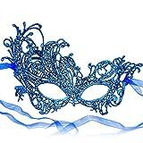 RXBC2011 Spitze Maske Blau Frauen Party Karneval Maskerade