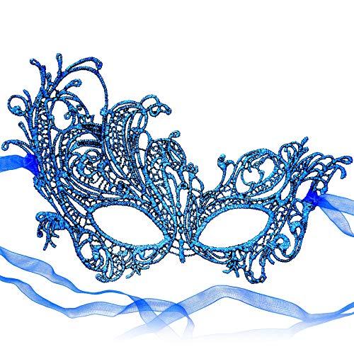 RXBC2011 Mascherata del Carnevale del Partito delle Donne Blu della Maschera del Pizzo