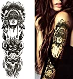 3 Sheet VOLLEN ARM TATTOO FAKE TATTOO Indianer Tribal Rosen Skull Länge 45cm für 3 Sheet VOLLEN ARM TATTOO FAKE TATTOO Indianer Tribal Rosen Skull Länge 45cm