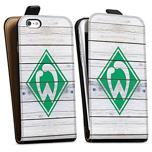 Apple iPhone 5s Silikon Hülle Case Schutzhülle Werder Bremen Holzplanken Fanartikel Downflip Tasche schwarz
