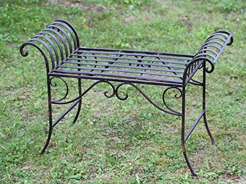 Nostalgie Gartenbank Metall Sitzbank antik Stil Bank Hocker garden bench - 2