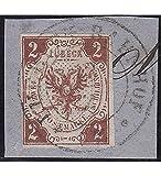 Goldhahn Lübeck Nr. 3 gestempelt Geprüft Briefmarken für Sammler