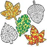 """Baker Ross Fensterdeko """"Herbst"""" zum Ausmalen für Kinder – perfekt für Kinder zum Dekorieren (12 Stück)"""