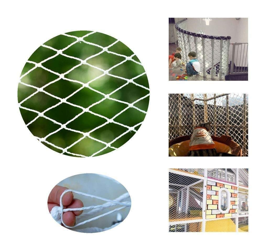 Balcony protection net, stair shatter-resistant net, terrace safety net, nursery fence net, playground park stadium fence net hammock swing (Size : 10 * 10M(33 * 33ft))  ◆ Safety net wire diameter 6MM, mesh spacing 10CM.Color: white rope net.Our protective mesh can be customized according to your needs. ◆Protective net material: Made of nylon braided rope, hand-woven, tightened.Exquisite workmanship, solid and stable, can withstand 300kg weight impact. ◆Features of decorative net: soft material, light mesh, multi-layer warp and weft, fine wiring, fine workmanship; clear lines, non-slip durable, anti-wear. 5