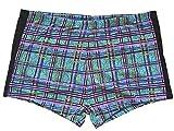 Solar Tan Thru Badehose Panty blau, Gr. 7, XL