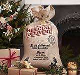 Hesse de Santa Sack pour les cadeaux de Noël - Vintage Noel