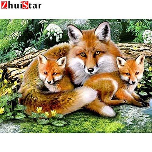 Aeloot Diamant Malerei Tierbilder Von Strasssteinen Diamant Stickerei Verkauf Fox Handarbeiten Diamant Mosaik Kunsthandwerk Geschenk, 30X40 Cm -