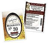 Einladungen für Geburtstage Männer Frauen Bier Kronkorken lustig - JEDES Alter möglich - 10 Karten Größe 17 x 12 cm