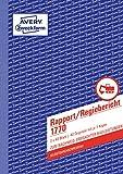 Avery Zweckform 1770 Rapport/Regiebericht (A5, selbstdurchschreibend, 2x40 Blatt) weiß/gelb