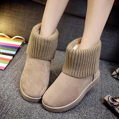 SHANGXIAN Boots Stivali a metà gamba con imbottitura pesante yellow