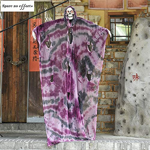 WSJDE Sprachsteuerung Elektrische Hängende Große Geisterpuppe Halloween Dekoration Horror House Haunted Doll Halloween Party Decoracion Requisiten