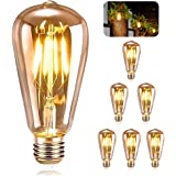 ASANMU Ampoule E27 Vintage, 6 Pièces Ampoule Edison LED E27 ST64 Lampe Décorative Rétro Edison Ampoule Vintage Antique Lampe