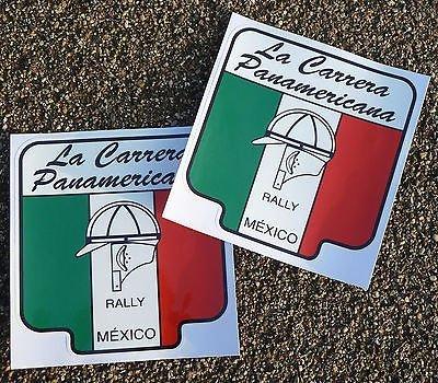 Carrera Panamericana aufkleber Klassisch Vintage rennen autos Porsche Mercedes Audi