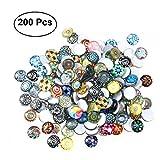 ROSENICE Carreaux de mosaïque 12mm Mixed Round for Crafts Glass Mosaic Supplies pour bijoux Making 200pcs...