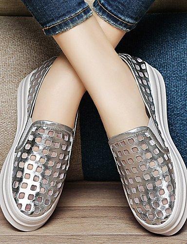 ShangYi Scarpe Donna - Scarpe col tacco - Ufficio e lavoro / Formale / Casual / Serata e festa - Plateau / Creepers - Piatto - Sintetico -Nero / Black