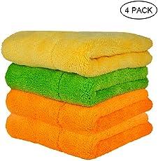 Pawaca Autowaschtücher Ultra Thick Plüsch Microfiber Auto Reinigungstücher Super saugfähige Trockene Handtücher