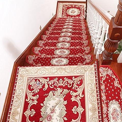 QKR&Bel tappeto, scale Continental pad scale antiscivolo tappetini tappetino scala personalizzato pad di lancio mat versione aggiornata del autoadesiva senza colla (1 caricato,, 5 caricati, 10 caricato) moquette Camera ( colore : 5 Pcs-E Section , dimensioni : S. )