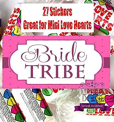 Eternal Design poule Nuit Stickers pour Mini bonbons Love Heart hnlvhs 20 27 per pack