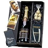 Geschenk Set Campagner-Box - Champagner, Karten und Marc de Champagne-Trüffel