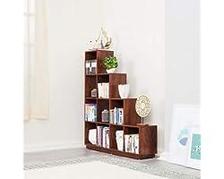 Wakefit Burns Engineered Wood Bookshelf, Matte Finish, Dark Walnut, Set of 1