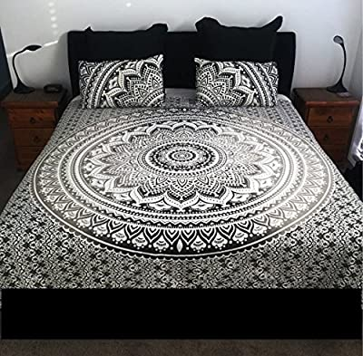 Multi Color Duvet Cover Throw Cotton Bedding Quilt Cover Reversible Cotton Doona Cover Indian Ombre Mandala Duvet With Pillow Cases