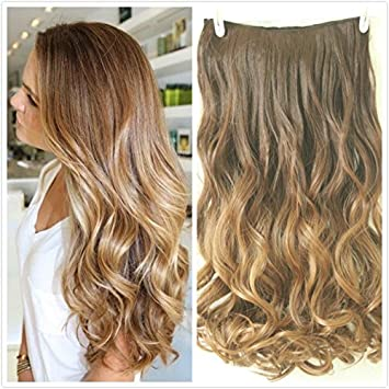 22 full head clip in hair extensions ombre wavy curly dip dye 6 22 full head clip in hair extensions ombre wavy curly dip dye 6 pcs chocolate brown to dark blonde amazon beauty pmusecretfo Image collections