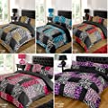 Kruger Purple Duvet Bedding Set - Single-Double-King Size-Super King Size - low-cost UK light store.