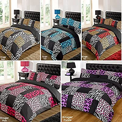 Kruger Purple Duvet Bedding Set - Single-Double-King Size-Super King Size produced by Dreamscene - quick delivery from UK.