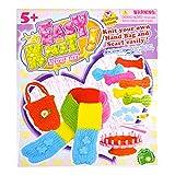 AiSi Mädchen DIY Handarbeits Set, zum Basteln für Kinder, rund Webrahmen für Schal Handtasche, Bastelset ab 5 jahre