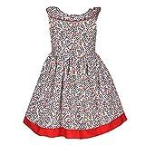 CATKIN Girls Cotton Frocks/A-Line Dress/...