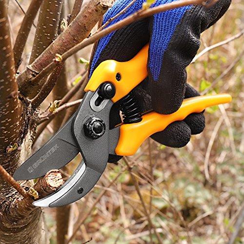 GrÜntek cesoie giardinaggio forbici potatura a incudine osprey 190 mm. forbici da giardino amboss per tagli netti e facili di verdo fresco piante fiori. prezzo di lancio!